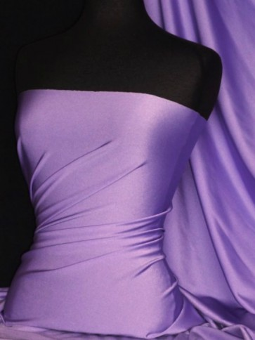 Deep Lilac Shiny Lycra Stretch Fabric Q54 DLIL
