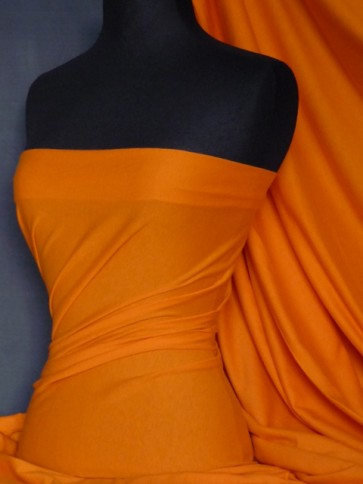 Bright Orange Stretch Light Cotton Jersey Fabric Q1249 BTOR