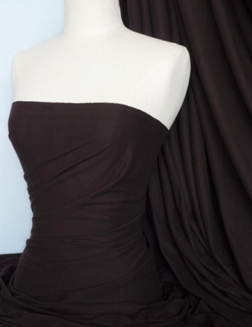 Chocolate Suede Look Stretch Fabric Material Q503 BR