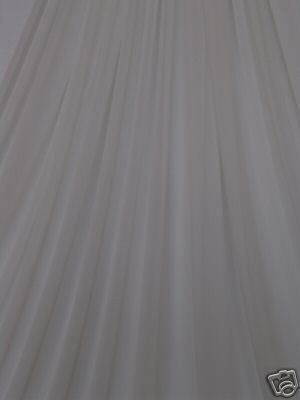 Sheer white fabric curtain material NEW
