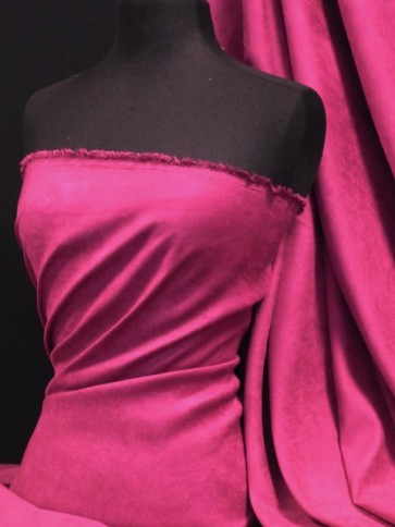 Magenta Suedette / Suede Look Material Q835 MGT
