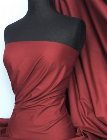 Maroon Poly Cotton Fabric Material Q460 MRN