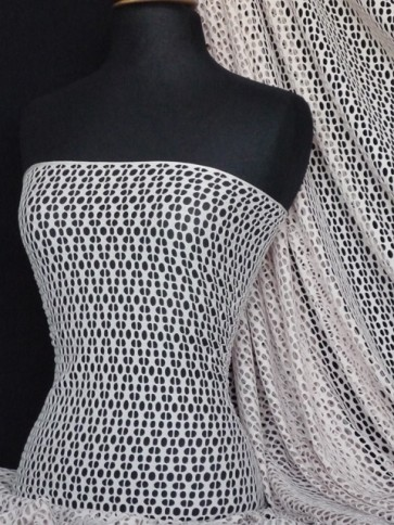 Nude fishnet / abstract net stretch fabric Q899 NUDE