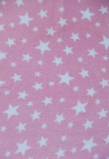 Baby Pink Twinkle Polar fleece- Anti Pill Washable Soft PF227 BPNWHT