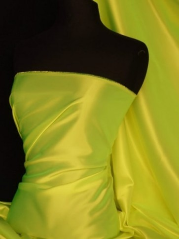 Tropical Lime Acetate Satin Fabric Material Q824 TLM
