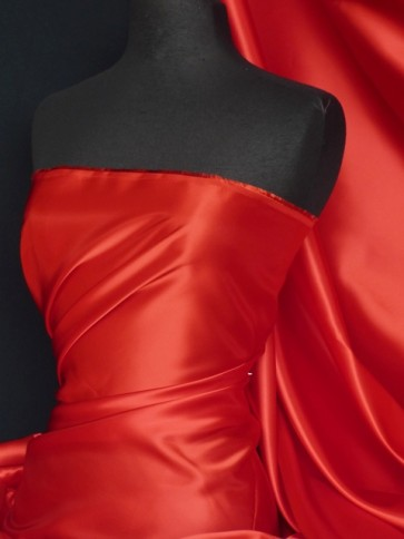 Red dutch satin fabric material Q825 RD