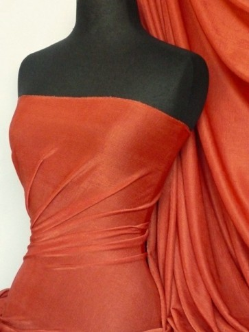 Dark Rust Slinky Stretch Jersey Fabric Q323 DRST