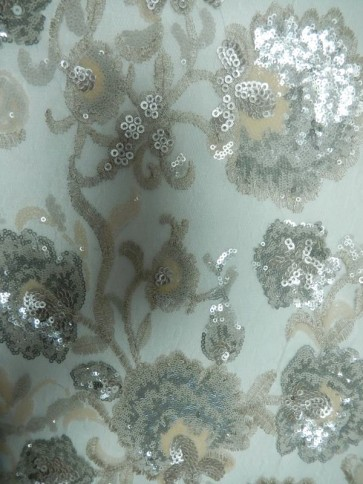 Pearlette Showtime All Over Stitched 3mm Sequins Fabric SEQ57 PRL