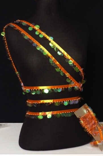 Tropical Orange Sequin Trimming SY23 OR