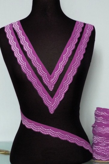 Purple Scalloped Lace Trimming SY78 PPL