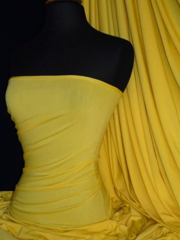 Yellow Viscose Cotton Stretch Lycra Fabric Material