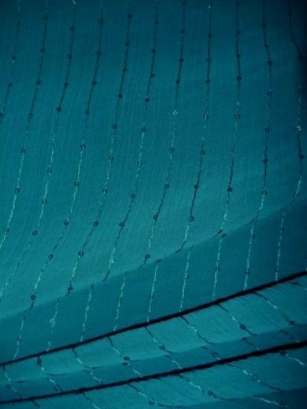 Teal Blur Sheer Curtains Living Room Decorations: Teal Blue Crinkle Chiffon Sequin Sheer Fabric SQ28 TLBL