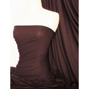 Brown 100% Viscose Stretch Fabric Material 100VSC BR