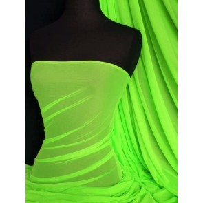 Flo Lime Green LT Power Mesh 4 Way Stretch Fabric 109LT FLMGR