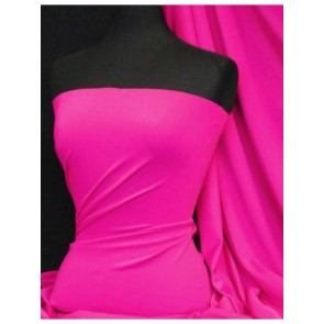 Fuchsia  matt lycra 4 way stretch fabric Q56 FUCH