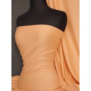 Peach Cotton Lycra Jersey 4 Way Stretch Fabric Q35 PCH