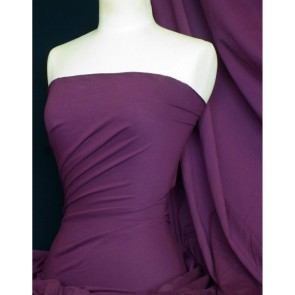 Aubergine Cotton Lycra Jersey 4 Way Stretch Fabric Q35 AUB