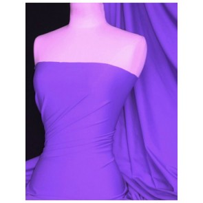 Electric Violet Matt Lycra 4 Way Stretch Fabric Q56 ELVLT