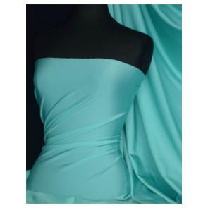 Aqua Shiny Lycra 4 Way Stretch Fabric Q54 AQ