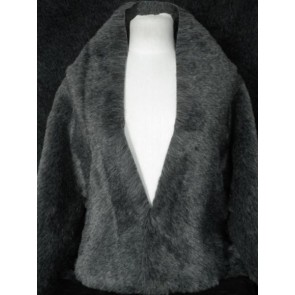 Grey Luxury Faux Imitation Fur Fabric FR GR
