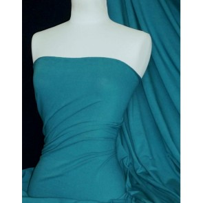 Teal  Lycra Jersey 4 Way Stretch Fabric Q35 TL