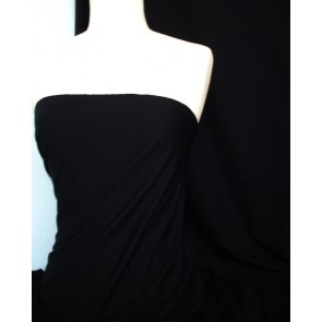 Black 4 Way Stretch Light Jersey Fabric Q450 BK