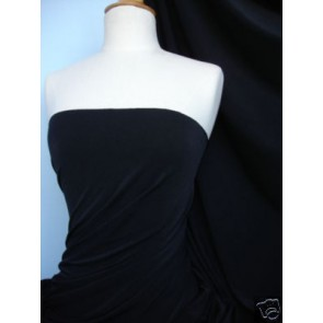Black Matt Lycra 4 Way Stretch Fabric Q56 BK
