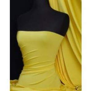 Yellow 4 way stretch shiny lycra fabric Q54 YL