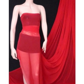 5 Meters red helenka mesh sheer fabric