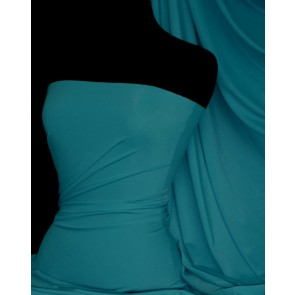 Teal matt lycra 4 way stretch fabric Q56 TL