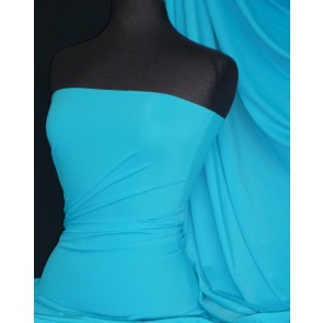 Turquoise matt lycra 4 way stretch fabric Q56 TQS