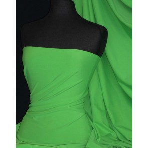 Kelly Green Matt Lycra 4 Way Stretch Fabric Q56 KLGR