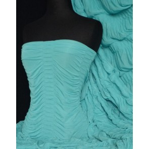 Aqua Ruched Catwalk Look 4 Way Stretch Fabric Q802 AQ