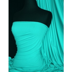 Aqua viscose cotton stretch lycra fabric Q300 AQUA