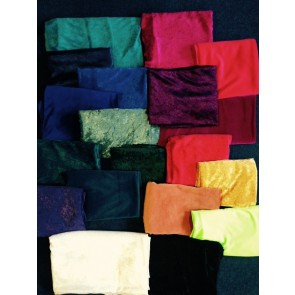 Clearance Assorted Crushed/Spandex Velvet Fabric Offcuts