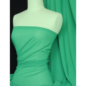 Astro Green Soft Touch Sheer Chiffon Fabric Q354 ASTRO
