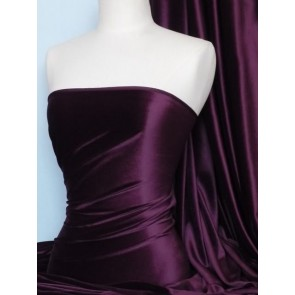 Aubergine Steam Velvet Stretch Fabric SV157 AUB