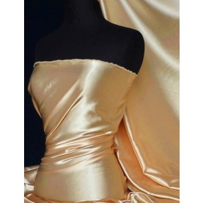 Beige Super Soft Satin Stretch Fabric Q710 BGE