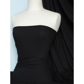 Black Cotton Lycra Jersey 4 Way Stretch Material Q35 BK