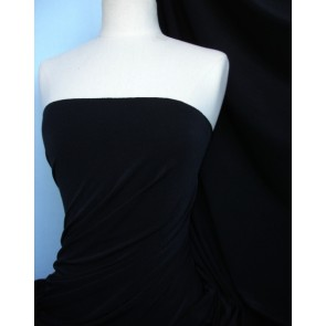Black 4 way stretch micro lycra fabric Q907 BK