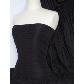 Black Ruched Catwalk Look Stretch Fabric Q803 BK