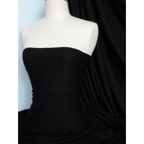 Black Morgan Crepe 4 Way Stretch Viscose Lycra Jersey Q238 BK