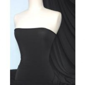 Black Silk Touch 4 Way Stretch Jersey Lycra Q53 BK
