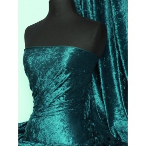Blue diamond crushed velvet/ velour stretch