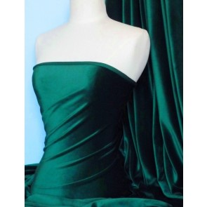 Bottle Green Steam Velvet Stretch Fabric SV157 BTGR