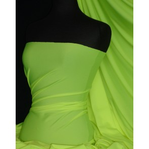 Bright Lime Green 4 Way Stretch Shiny Lycra Material Q54 BLM