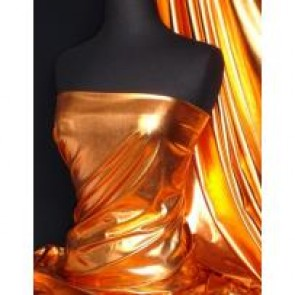 Bronze orange metallic foil 4 Way stretch lycra NG521 BRZOR