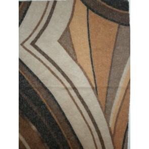 Brown Abstract Thick & Thin Sheer Stretch Fabric Q1080 BRN
