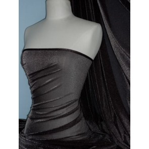 Brown Sheer Stretch Fabric With Subtle Shimmer