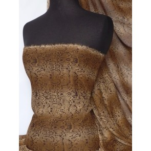 Brown Snake Soft Touch Chiffon Sheer Fabric Q998 BRN